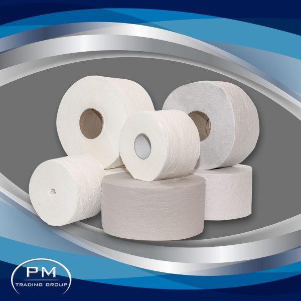 Професионални тоалетни хартии на рула и пачки на едро подходящи за дозатори